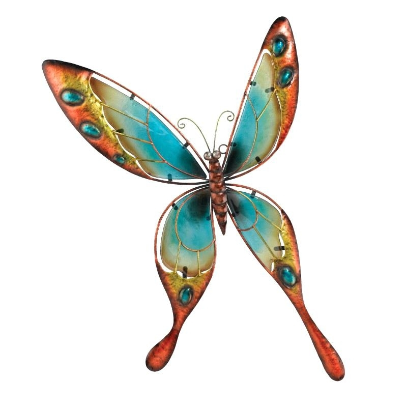 Butterfly Wall Decor Blue Butterfly Wall Art 3D Butterfly Wall Decor Inside Recent 3D Wall Art Walmart (View 6 of 15)
