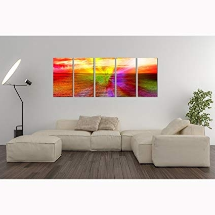 Buy Colors Of Happiness Modern Metal Wall Art, Abstract Metal Wall For Newest Happiness Abstract Wall Art (View 9 of 15)