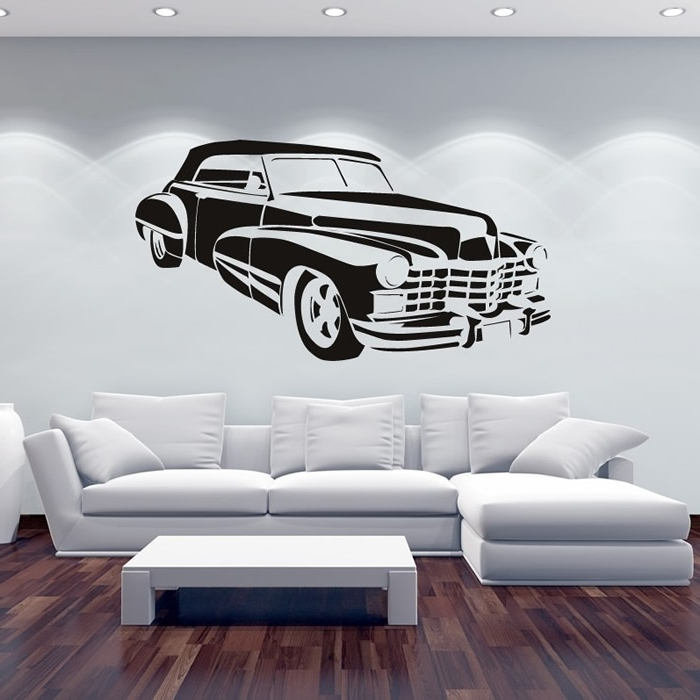 Cadillac Wall Sticker Car Wall Art Pertaining To Well Liked Classic Car Wall Art (View 8 of 15)