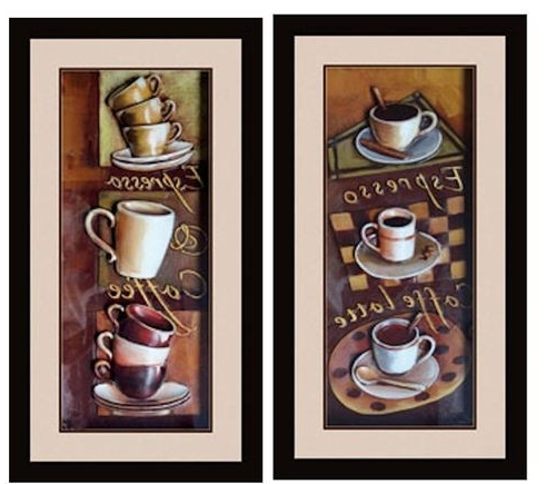 Cafe Wall Decor Kitchen Unique Wall Art Ideas Design Espresso 3D Throughout Well Liked Cafe Latte Kitchen Wall Art (View 14 of 15)