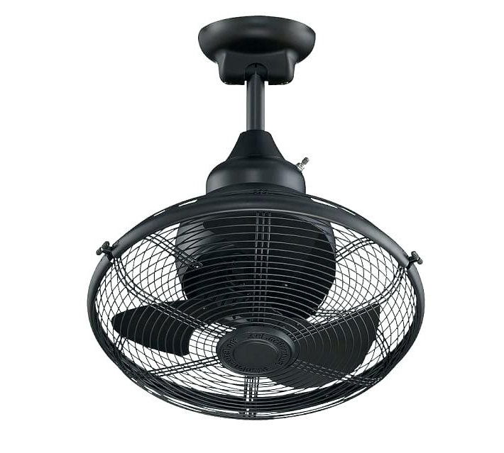 Caged Outdoor Ceiling Fans Fan With Light – Hitmangear (View 11 of 15)