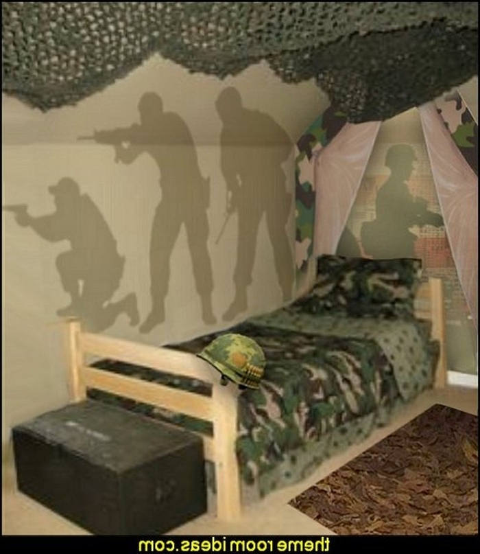 Camouflage Wall Art In Trendy  (View 2 of 15)