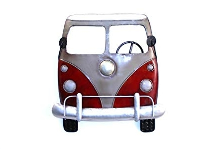 Camper Van Wall Art – Funky Red/silver Metal Wall Art: Amazon.co (View 14 of 15)