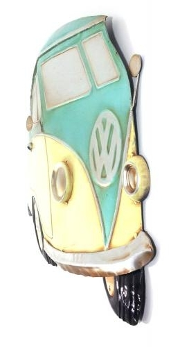 Campervan Metal Wall Art For Well Known Metal Wall Art – Aqua Vw Campervan (View 13 of 15)