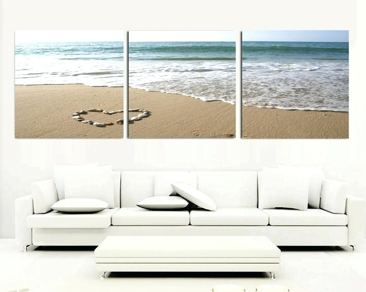 Canvas Bedroom Wall Art 3 Piece Canvas Wall Art Sets Beach Painting In Most Recent Large Canvas Wall Art Sets (View 6 of 15)