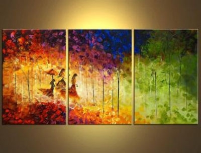 Canvas Landscape Wall Art With Most Recently Released Angelsmy Side Modern Canvas Art Wall Decor Landscape Oil (View 4 of 15)