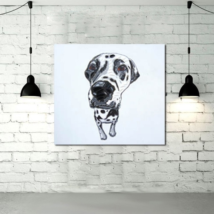 Canvas Painting Quality Animal Wall Art Oil Painting Cuardros Decor with Most Current Abstract Dog Wall Art