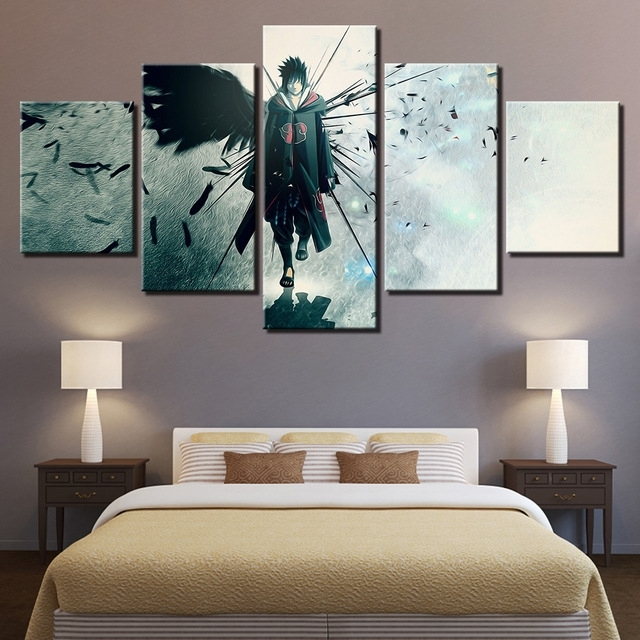 Canvas Poster Home Decor Modular Wall Art Framework 5 Pieces Naruto for Fashionable Modular Wall Art