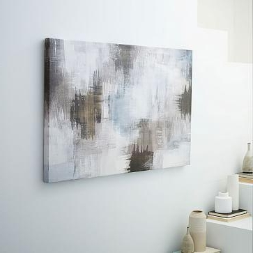 Canvas Print Abstract Smudges With Regard To Popular Gray Abstract Wall Art (View 4 of 15)