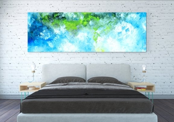 Canvas Print Abstract Wall Art Horizontal Lanscape Horizontal For Best And Newest Horizontal Abstract Wall Art (View 11 of 15)