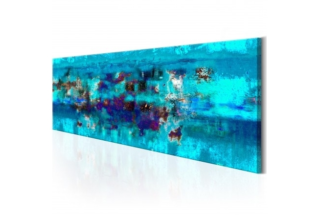 Canvas Wall Art Abstract Ocean – Coloured – Abstract – Canvas Prints Pertaining To Current Abstract Ocean Wall Art (View 6 of 15)