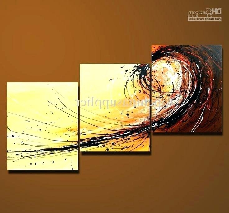 Canvas Wall Art Sets 3 Piece Art Sets Wholesale Art Modern Abstract Throughout Recent Wall Art Multiple Pieces (View 2 of 15)