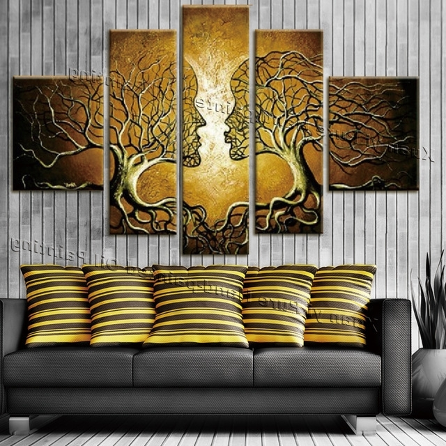 Canvas Wall Decor Hd Canvas Printed Modern Paint Wall Decals 3D Regarding Widely Used 3D Wall Art Canvas (View 7 of 15)