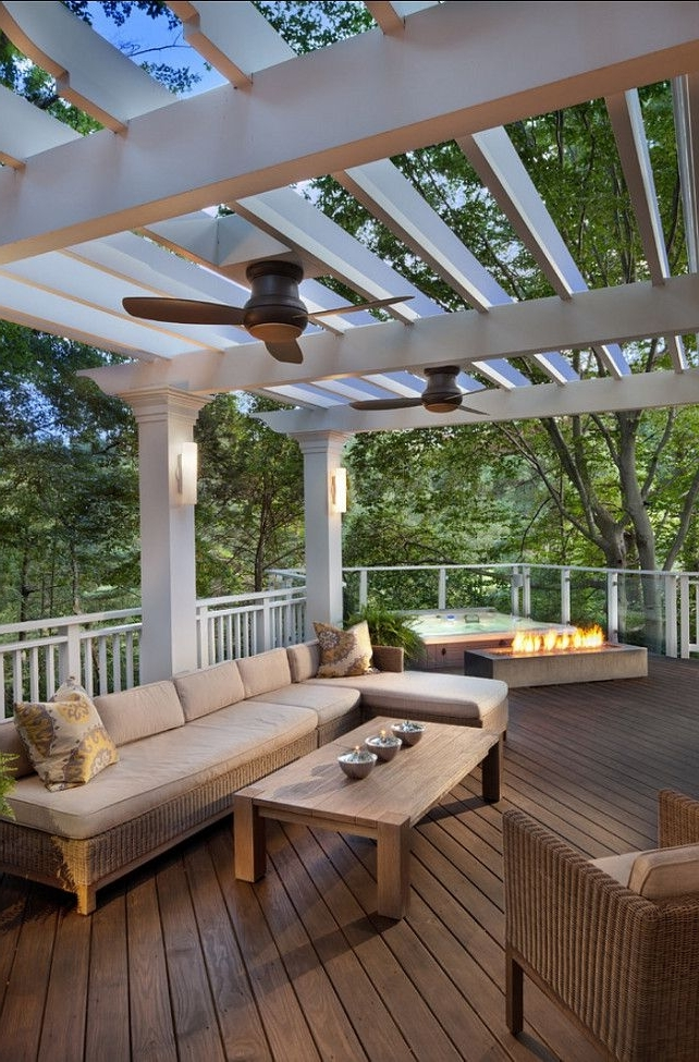 Featured Photo of Outdoor Ceiling Fans Under Pergola