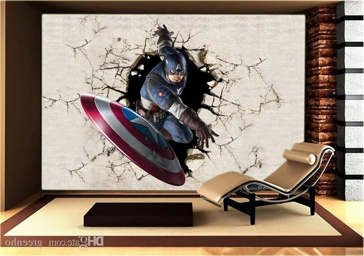 Captain America 3D Wall Art With Regard To Preferred 35 Avengers 3D Wall Art, Articles With Avengers 3D Wall Art Light (View 6 of 15)