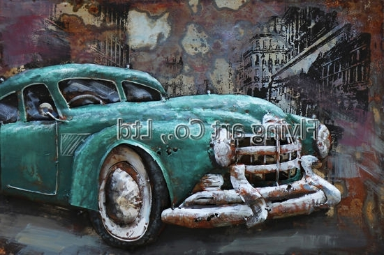 Cars 3D Wall Art Inside Current China 3 D Metal Wall Art Decor For Cars – China Metal Painting (View 14 of 15)