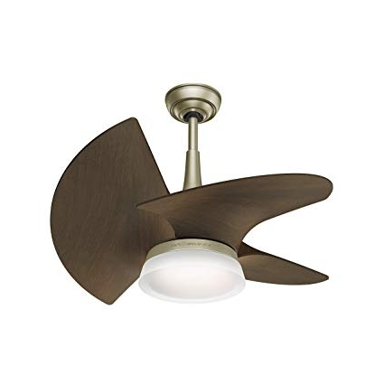 Casablanca Outdoor Ceiling Fans With Lights Intended For Well Known Casablanca 59138 Orchid Outdoor Ceiling Fan With Wall Control, Small (View 8 of 15)