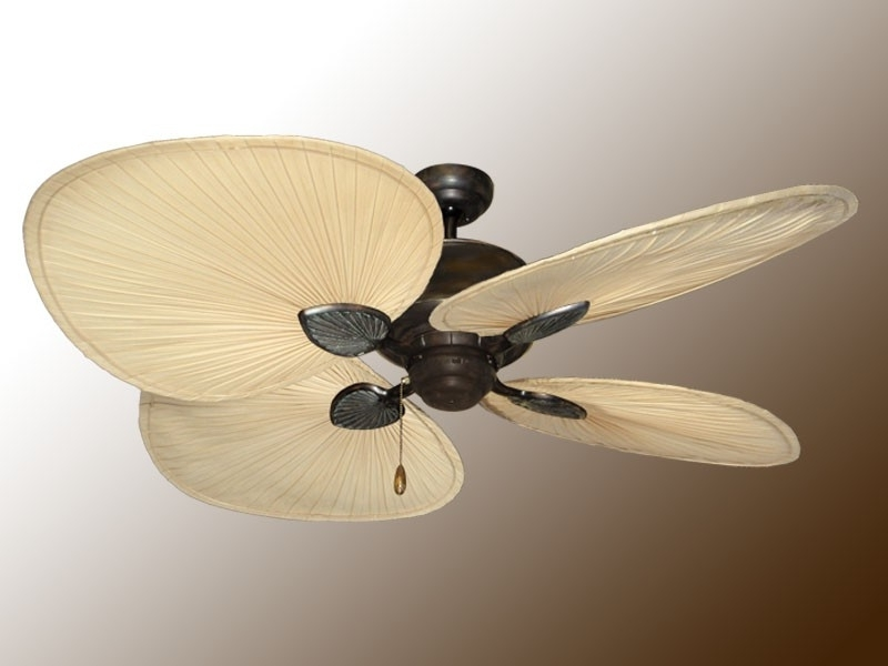 Ceiling Fan Design: Natural Palm Leaf Ceiling Fans, Palm, Ceiling Pertaining To Trendy Outdoor Ceiling Fans With Palm Blades (View 9 of 15)