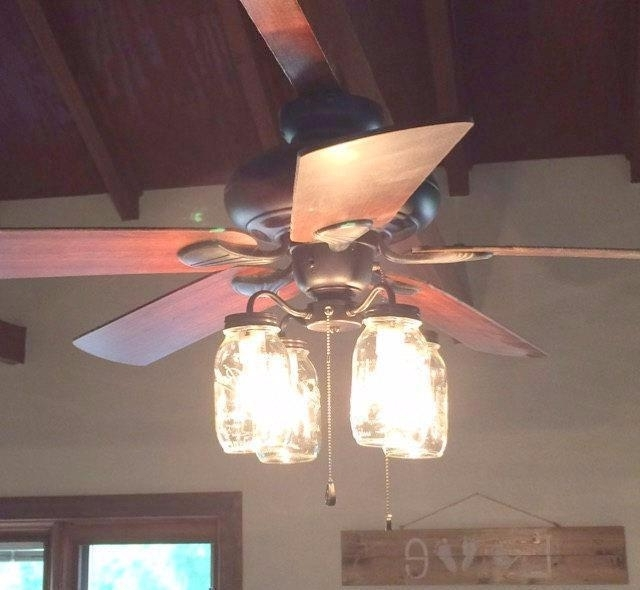 Ceiling Fan Light Kit Really Encourage Mason Jar Ceiling Fan New With Preferred Outdoor Ceiling Fans With Mason Jar Lights (View 2 of 15)