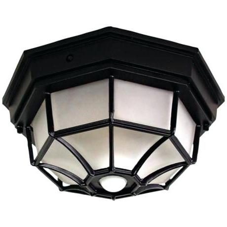 Ceiling Lights Outdoor Octagonal Wide Black Motion Sensor Outdoor Regarding Most Recently Released Outdoor Ceiling Fans With Motion Sensor Light (View 11 of 15)