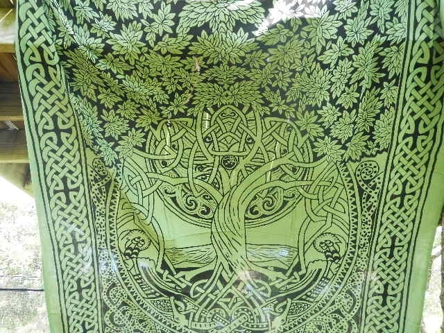 Celtic Tree Of Life Wall Art For Fashionable Celtic Tree Of Life Infinity Knot Druid Pagan Tapestry Wall Hanging (View 2 of 15)