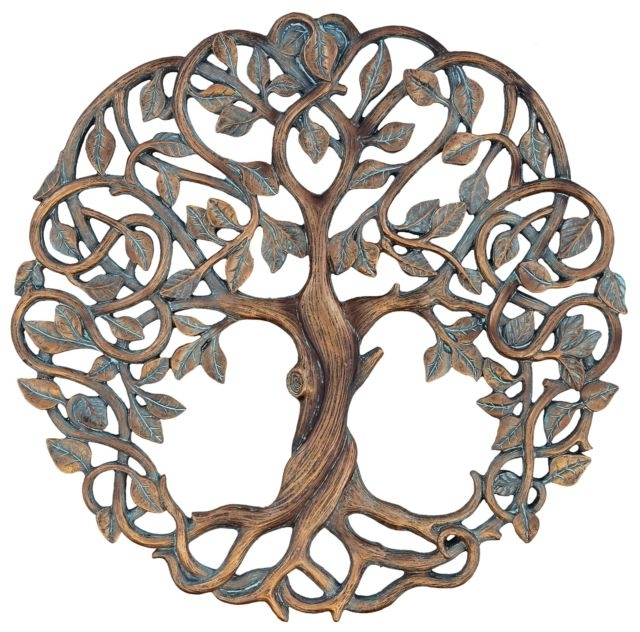 Celtic Tree Of Life Wall Art Throughout Trendy Tree Of Life Wall Plaque 11 5/8 Decorative Celtic Garden Art (View 12 of 15)