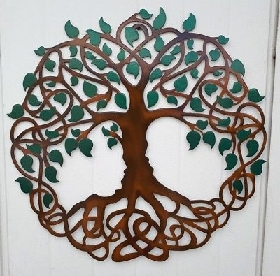 Celtic Tree Of Life Wall Art With Regard To Most Recent Tree Of Life, Colored Leaves, Celtic Design, Metal Art,  (View 6 of 15)