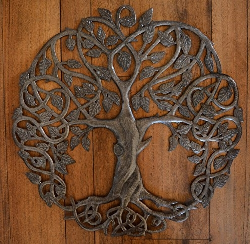 Celtic Tree Of Life Wall Art Within Latest New Design Celtic Inspired Tree Of Life Metal Wall Art Fair Trade (View 8 of 15)