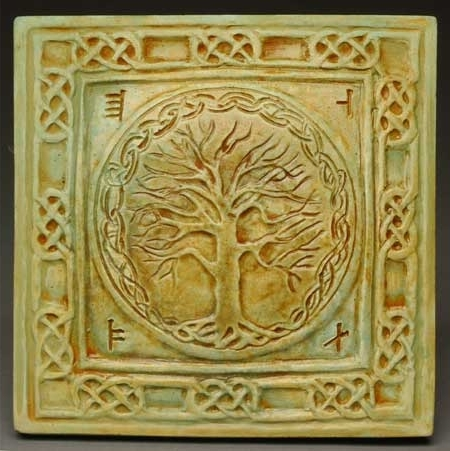 Celtic Tree Of Life Wall Plaque Midnight Moon Art For Home And Garden For Widely Used Celtic Tree Of Life Wall Art (View 9 of 15)