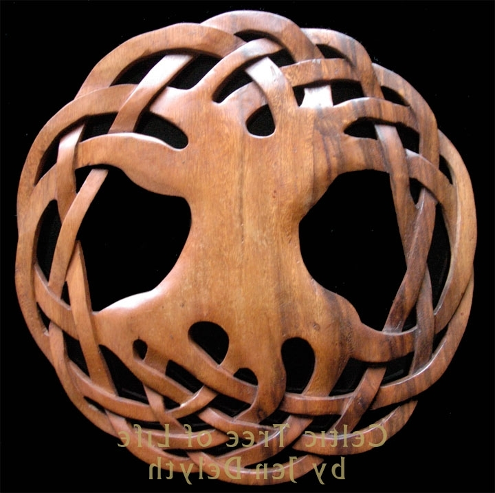 Celtic Tree Of Life – Wood Carved Wall Art Celtic Art Studio, Celtic Within Fashionable Celtic Tree Of Life Wall Art (View 1 of 15)
