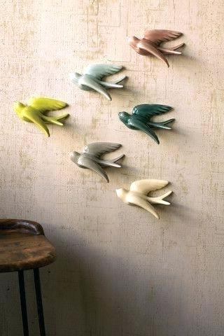 Ceramic Bird Wall Art With Most Recently Released Ceramic Bird Wall Art Best Swallow A Images On Swallow Paper And (View 6 of 15)