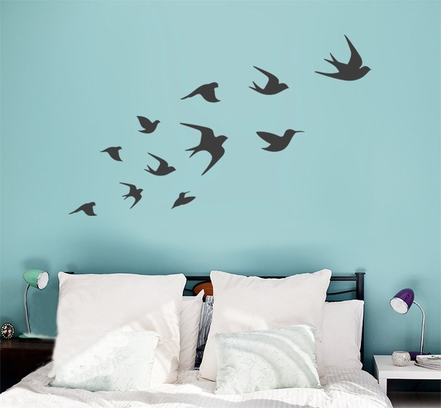 Ceramic Bird Wall Art With Regard To Favorite Fantastical Flying Birds Wall Decor Remodel Ideas Bird Decal Vinyl (View 14 of 15)