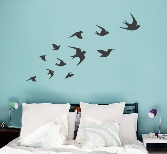 Ceramic Bird Wall Art With Regard To Favorite Fantastical Flying Birds Wall Decor Remodel Ideas Bird Decal Vinyl (View 7 of 15)