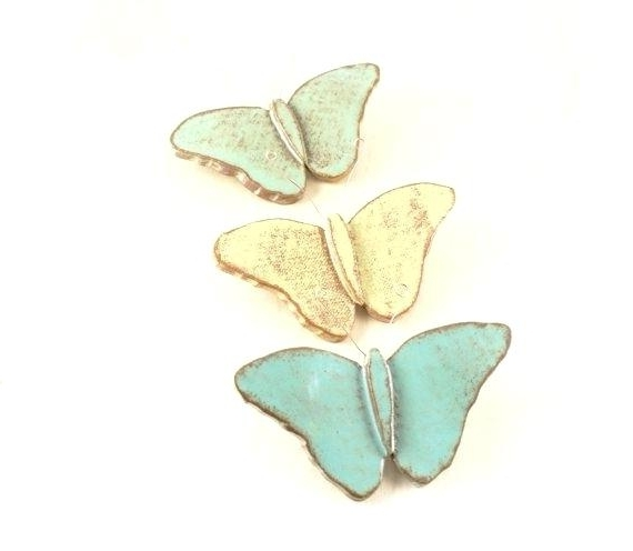 Ceramic Butterfly Wall Art Throughout 2017 Ceramic Butterfly Wall Art Lovely Butterfly Wall Hanging Ceramic (View 5 of 15)