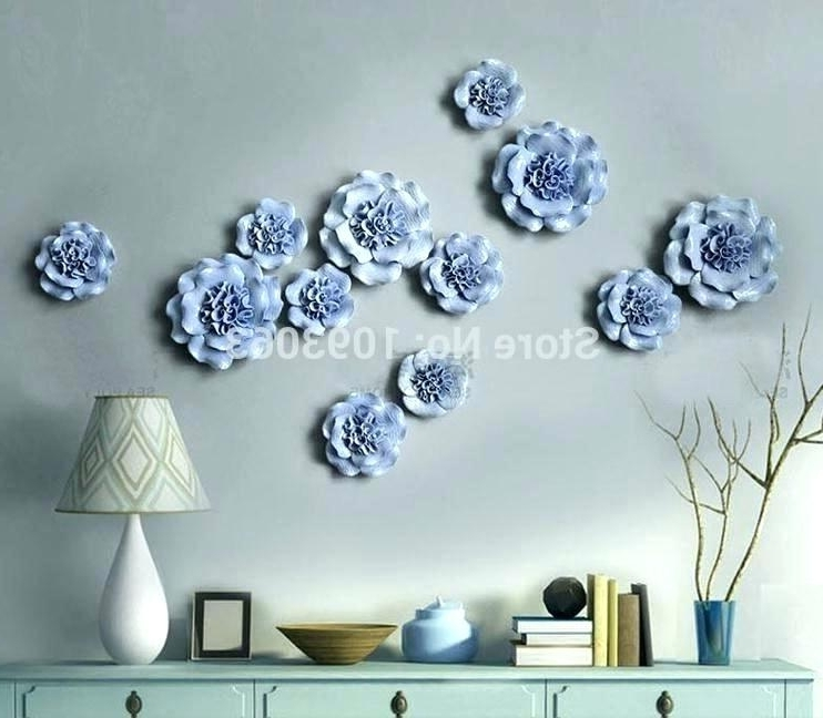 Ceramic Flower Wall Art Throughout Most Recently Released Wall Art Ceramic 3 Dimensional Wall Art Ceramic Flower Wall Decor (View 12 of 15)