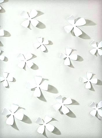 Ceramic Flower Wall Art White Flower Wall Art White Dogwood Intended For Newest Umbra 3D Wall Art (View 2 of 15)
