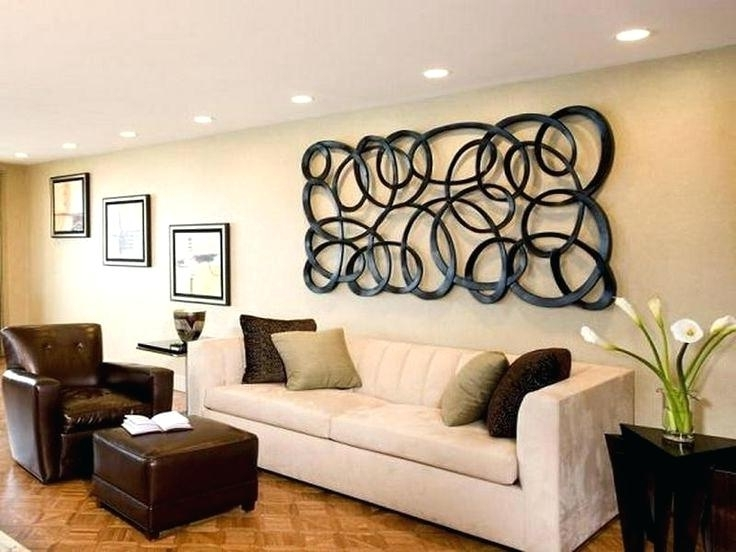 Charming Ideas Large Wall Decor For Living Room Decorating With Intended For Fashionable Horizontal Metal Wall Art (View 9 of 15)