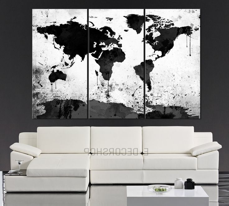 Cheap Black And White Wall Art Pertaining To Most Recently Released Black Wall Art Black White Grey Wall Art Bedroom Pictures Canvas Or (View 5 of 15)