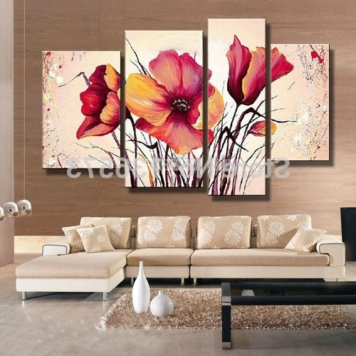 Cheap Contemporary Wall Art In Preferred Hand Painted Large Canvas Art Cheap Modern Wall Art Decorative (View 10 of 15)