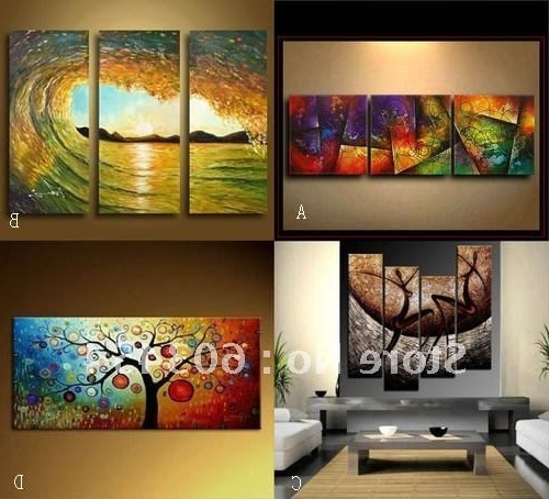 Cheap Wall Art Canvas Sets In Well Known Some Samples Of Discount Canvas Modern Abstract Wall Art That Can Be (View 4 of 15)
