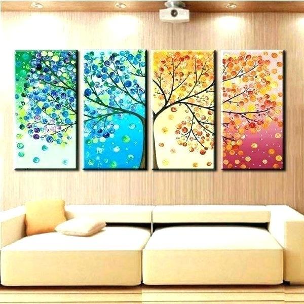 Cheap Wall Decor For Living Room Cheap Wall Decor Cheap Wall Canvas Pertaining To Trendy Seasonal Wall Art (View 4 of 15)