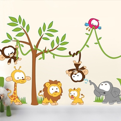 Childrens Wall Stickers – 3 – In Decors With Well Liked Children Wall Art (View 8 of 15)