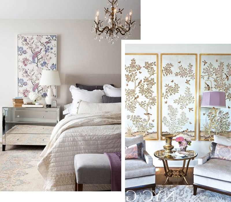 Chinoiserie Wall Art Throughout Newest Hand Painted & Chinoiserie Wall Panels :: This Is Glamorous (View 14 of 15)