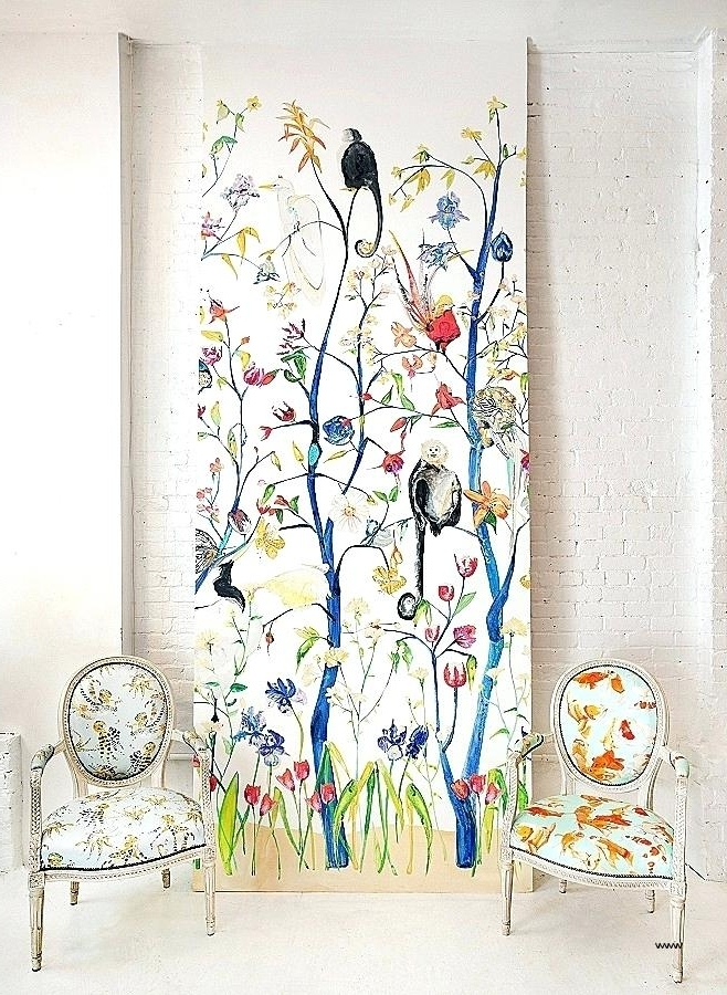 Chinoiserie Wall Art Wall Art Inspirational Menagerie Wallpaper Throughout Most Current Chinoiserie Wall Art (View 6 of 15)