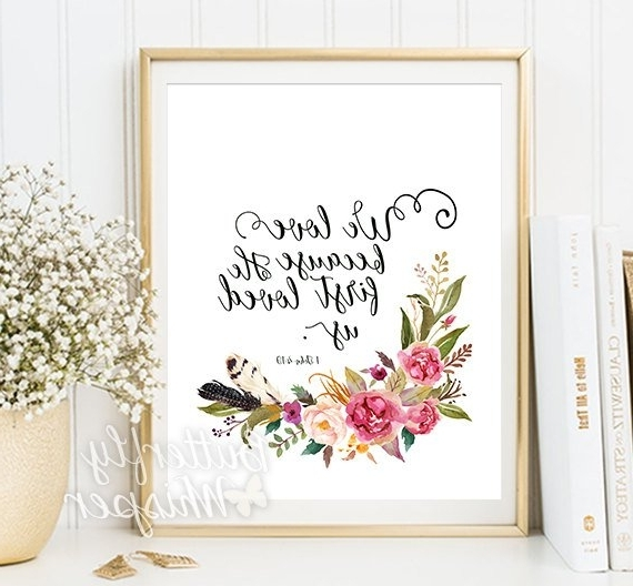 Christian Wall Art Scripture Print Nursery Bible Verse Wall (View 10 of 15)
