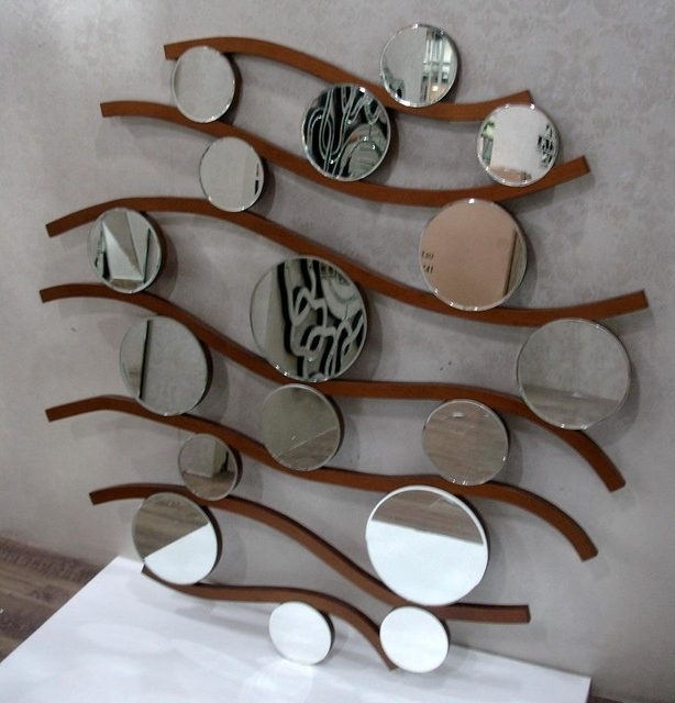Circle Mirror Contemporary Wall Mirrors Mirror Art Large Bedroom With Well Liked Wall Art Mirrors Contemporary (View 3 of 15)