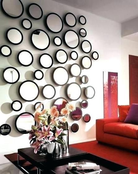 Circle Mirror Decor Mirror Decor Image Of Wall Decor With Mirrors Throughout Widely Used Mirror Circles Wall Art (View 6 of 15)