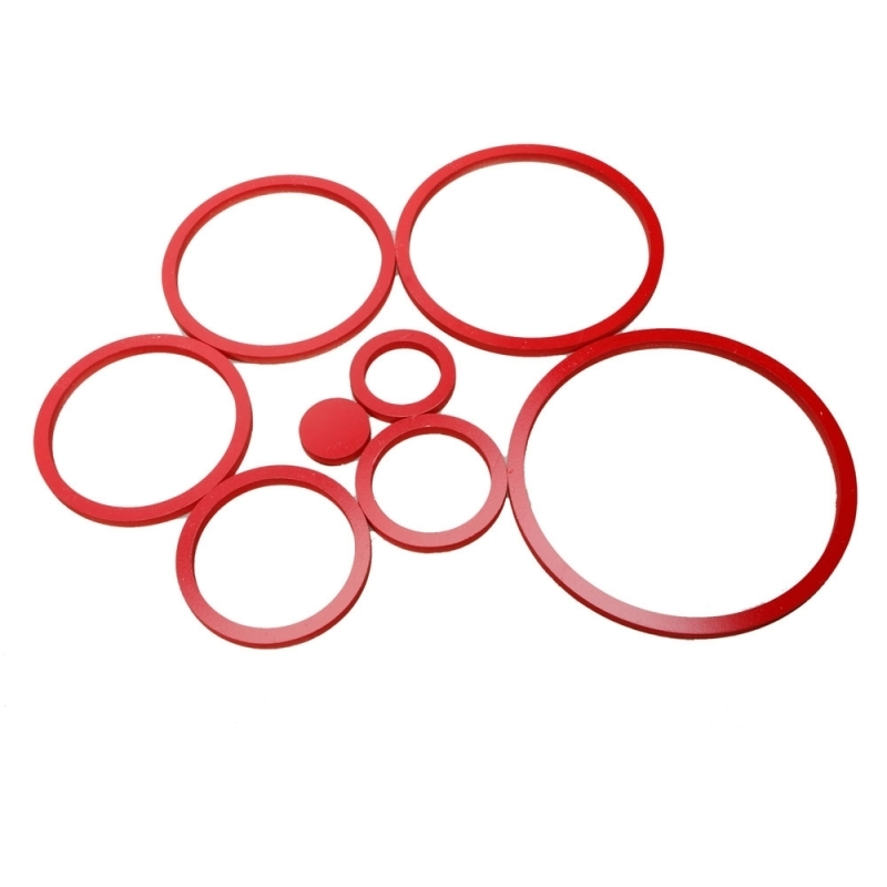 Circles 3D Wall Art Within Famous 8 Sets Diy Circles Ring Stereo Wall Stickers Mural Indoor 3D Wall (View 7 of 15)