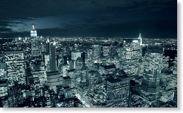 Cityscape Canvas Prints – Contemporary Wall Art – Midnight Cityi Intended For Most Recently Released Cityscape Canvas Wall Art (View 2 of 15)