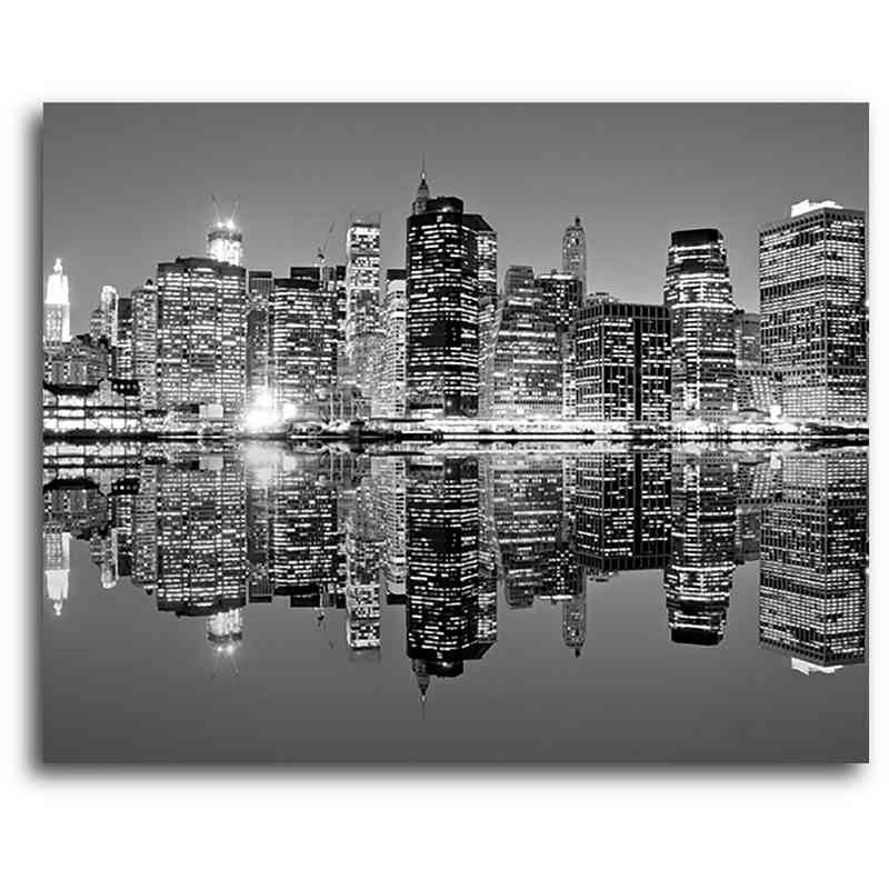 "Cityscape Canvas Wall Art Throughout Fashionable Black & White Cityscape 16"" X 20"" Canvas Wall Art – Home (View 6 of 15)"